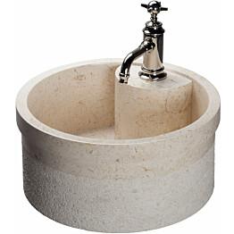 Pesuallas Qualitystone WB SOYAM Ø450 mm marmori beige