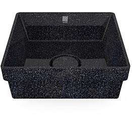 Pesuallas Woodio Cube40 Char, 400x400mm, upotettava, musta