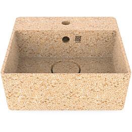 Pesuallas Woodio Cube40 Natural, 400x400mm, hanareikä, puu