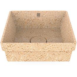 Pesuallas Woodio Cube40 Natural, 400x400mm, upotettava, puu