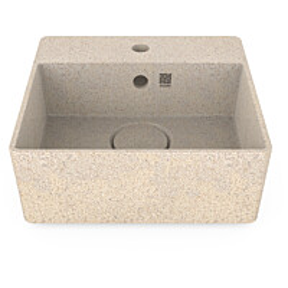 Pesuallas Woodio Cube40 Polar, 400x400mm, hanareikä, lkoinen