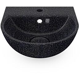Pesuallas Woodio Soft40 Char, Ø400mm, seinäkiinnitys, musta