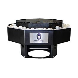 Pihagrilli Carelia Grill® 9K-80 Deco sis.koristekivet musta