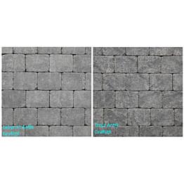 Pihakivi Benders Labyrint/Troja Antik Puolikivi 105x140x50 mm grafiitti