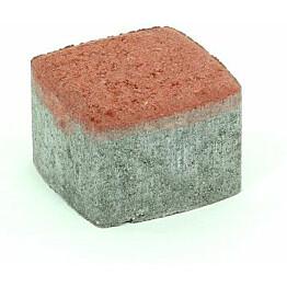Pihakivi Rudus Klassikko neliö 80 115x115x80 mm sileä punainen