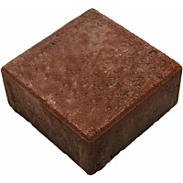 Pihakivi Rudus neliökivi 140x140x60mm punainen