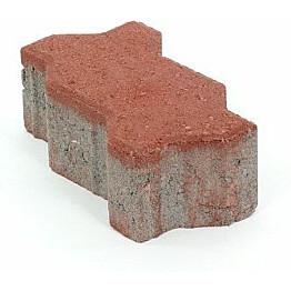 Pihakivi Rudus Unikivi 80 225x112,5x80 mm sileä punainen
