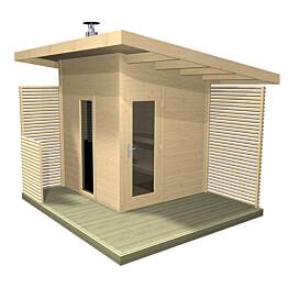 Pihasauna Harvia Solide Compact 4 m² sis. Kiuas piippu ja lauteet