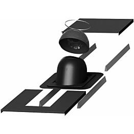 Piippu-läpivientisarja Vilpe no. 1 pyöreä musta