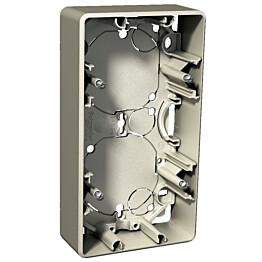 Pinta-asennusrasia 2-os. h=35 mm metalli Exxact 2418152