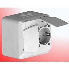 Pinta-asennuskotelo SUVI 44 vikavirtasuojatulle pistorasialle Etherma