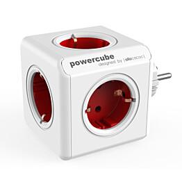Pistorasia Allocacoc PowerCube Original 5-osainen punainen/valkoinen
