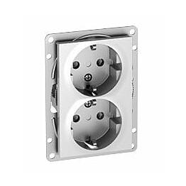 Pistorasia ELKO Plus 2-osainen/16A/IP20 UKR alumiini