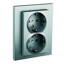 Pistorasia ELKO Plus 2-osainen/16A/IP20 UPJ/R alumiini