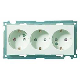 Pistorasia ELKO Plus, 3-osainen 16A/250V/IP21 UKR, valkoinen