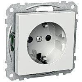 Pistorasia 1S/16A/250V/IP21 UKJ 0X valkoinen Exxact 2530101