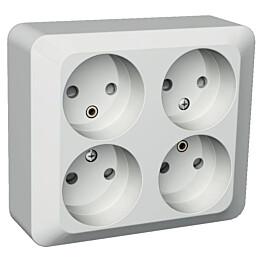 Pistorasia 4N/16A/250V/IP21 PJ 2X valkoinen Exxact 2418160