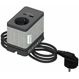 Pistorasiayksikkö Schneider electric Unica System+, pöytäyksikkö, S Schuko+USB-A/C, antrasiitti