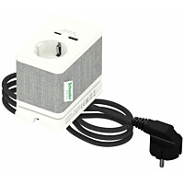Pistorasiayksikkö Schneider electric Unica System+, pöytäyksikkö, S Schuko+USB-A/C, valkoinen
