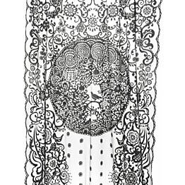 Pitsiverho Lennol Blackbird, 140x260cm, musta