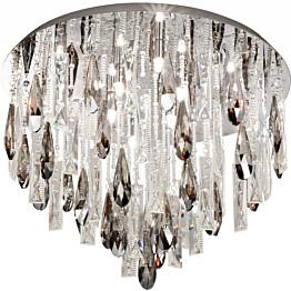 Plafondi Calaonda G9 8x33W Ø 58 cm kromi kristalli