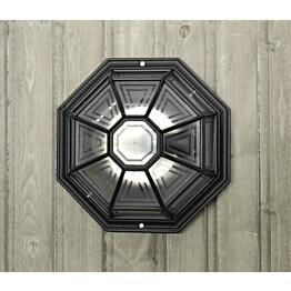 Plafondi Noor Monza, Ø283x150mm, musta