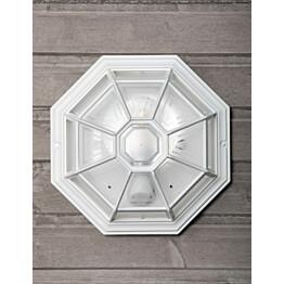 Plafondi Noor Monza, Ø283x150mm, valkoinen