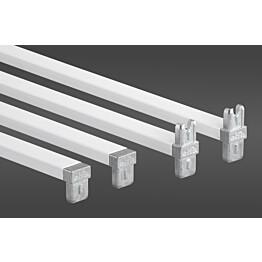 Valkoinen poikkituki 35 määrittelee telineen leveydeksi 35 cm