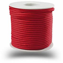 Polyesterinyöri Piippo 3mm punainen 20m