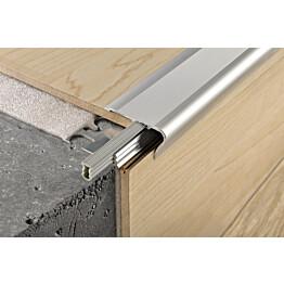 Porraskulma Progress Profiles Style Stair, 2,7m, anodisoitu hopea