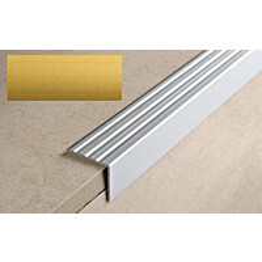 Porraskulmalista Progress Profiles Prowalk, 2,7m, 25mm, 20mm, liimakiinnitettävä, anodisoitu kulta