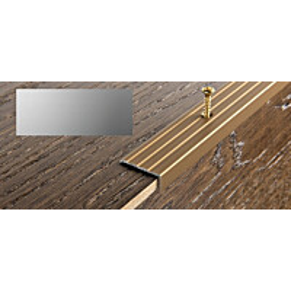 Porraskulmalista Progress Profiles Prowalk, 2,7m, 25mm, 20mm, ruuvikiinnitettävä, anodisoitu hopea