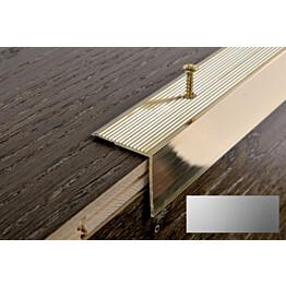 Porraskulmalista Progress Profiles Prowalk, 2,7m, 30mm, ruuvikiinnitettävä, anodisoitu hopea