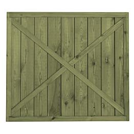 Porttielementti A27 900x800 mm pystylauta vihreä
