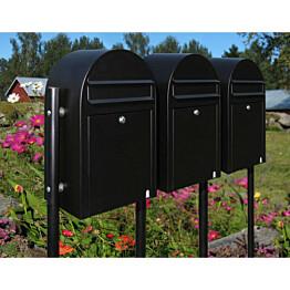 Postilaatikon ryhmäasennusjalusta Bobi Link 150 cm musta