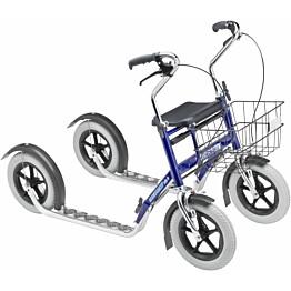 Potkupyörä Tuplapotku Nix, pitkä, sininen