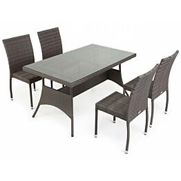 Pöytä Atlanta 80x140cm harmaa