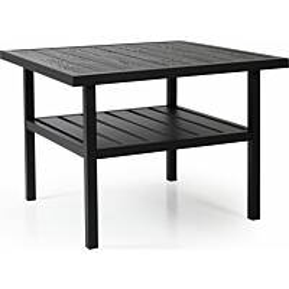 Pöytä Bergerac 90x90cm musta