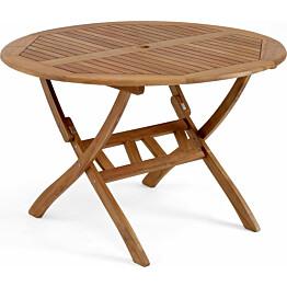 Pöytä Everton taitettava Ø110cm ruskea