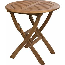 Pöytä Everton taitettava Ø70cm ruskea