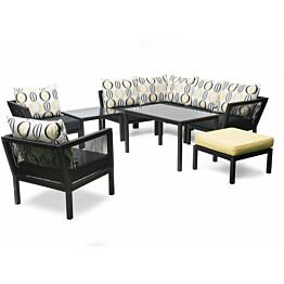 Pöytä Hillerstorp Hörle, 70x70cm, musta/alumiini