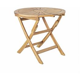 Pöytä Home4you Cherry Ø80 cm taitettava ruskea