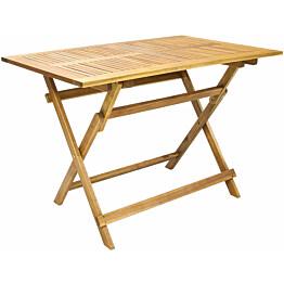 Pöytä Home4you Finlay, taitettava, 110x75cm, ruskea