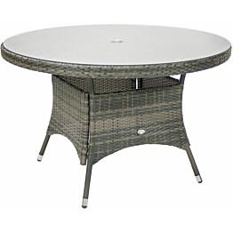 Pöytä Home4you Geneva Ø120 cm harmaa