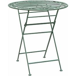 Pöytä Home4you Mint Ø70 cm taitettava antiikinvihreä