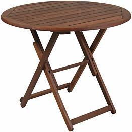 Pöytä Home4you Nantes, Ø70cm, taitettava, ruskea