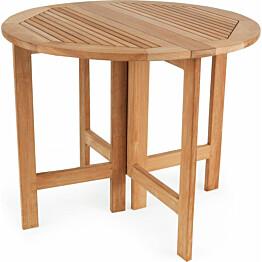Pöytä Ibiza taitettavat reunat Ø90cm tiikki