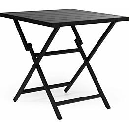 Pöytä Wilkie taitettava 72x72cm musta