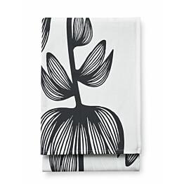 Pöytäliina Finlayson Alma 145x250 cm valkoinen/musta