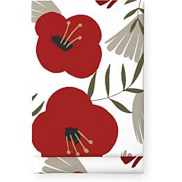 Pöytäliina Finlayson Anni 145x250 cm valkoinen/punainen